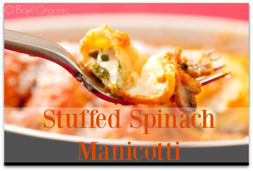 Stuffed Spinach Manicotti