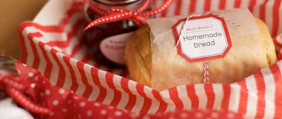 homemad bread and jam