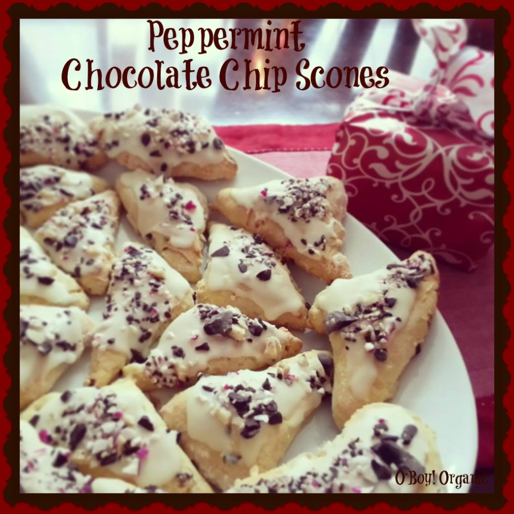 Peppermint Chocolate Chip Scones