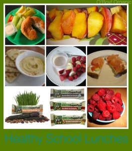healthy school lunches Collage
