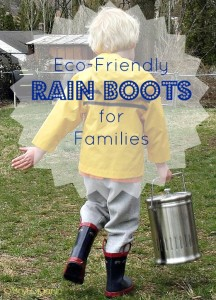 EcoFriendly Rain Boots