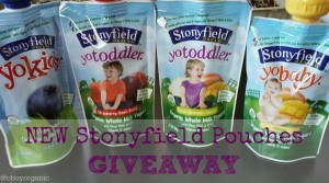 Stonyfield Pouch Giveaway logo