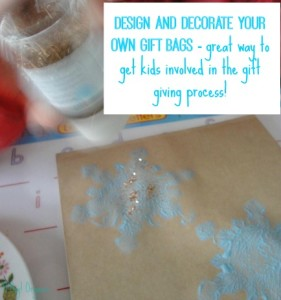 homemade holiday decorating gift bags