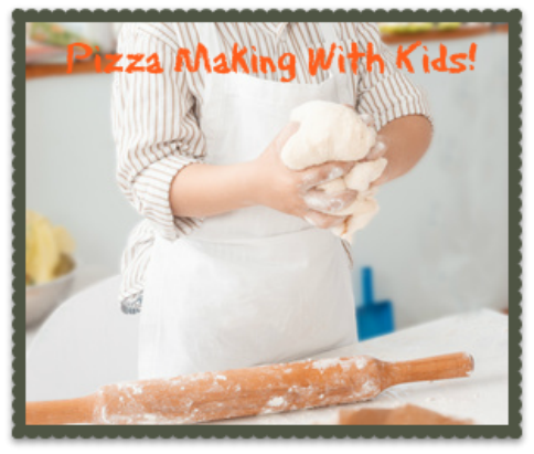 pizza making with kids