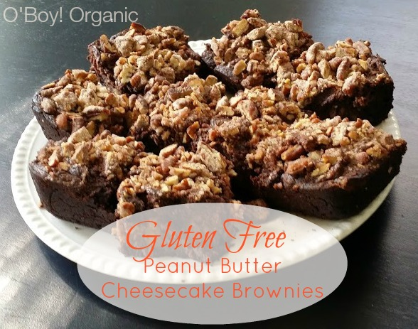 gluten free peanut butter cheesecake brownies