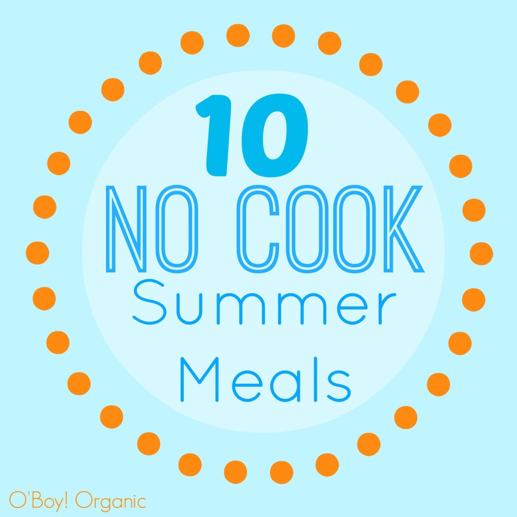 10 No Cook Summer Meals Logo