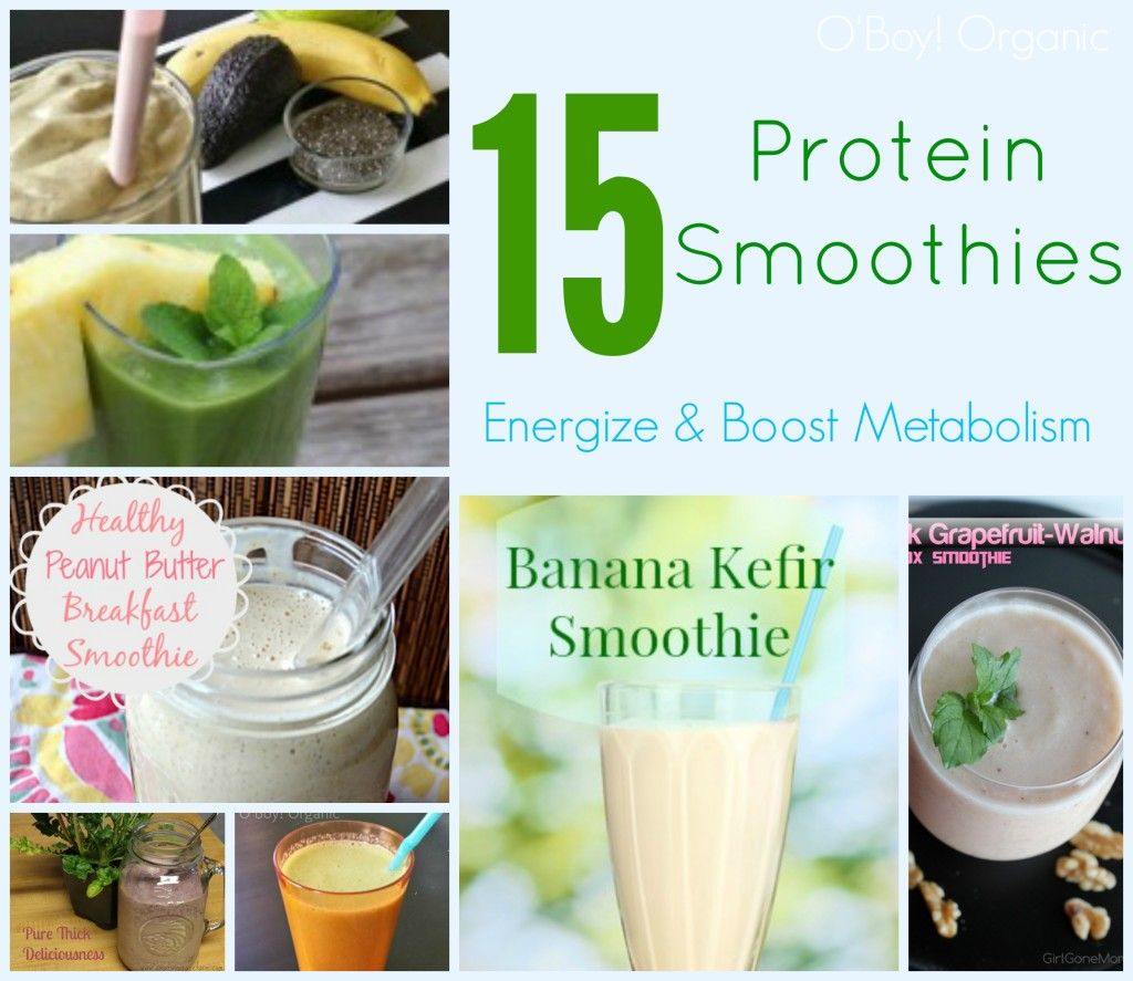Protein Smoothie Collage
