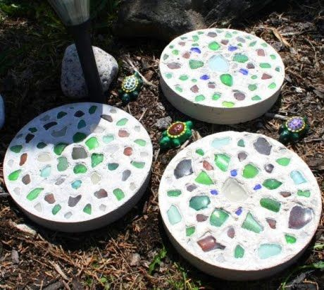 Sea Glass Stepping Stones