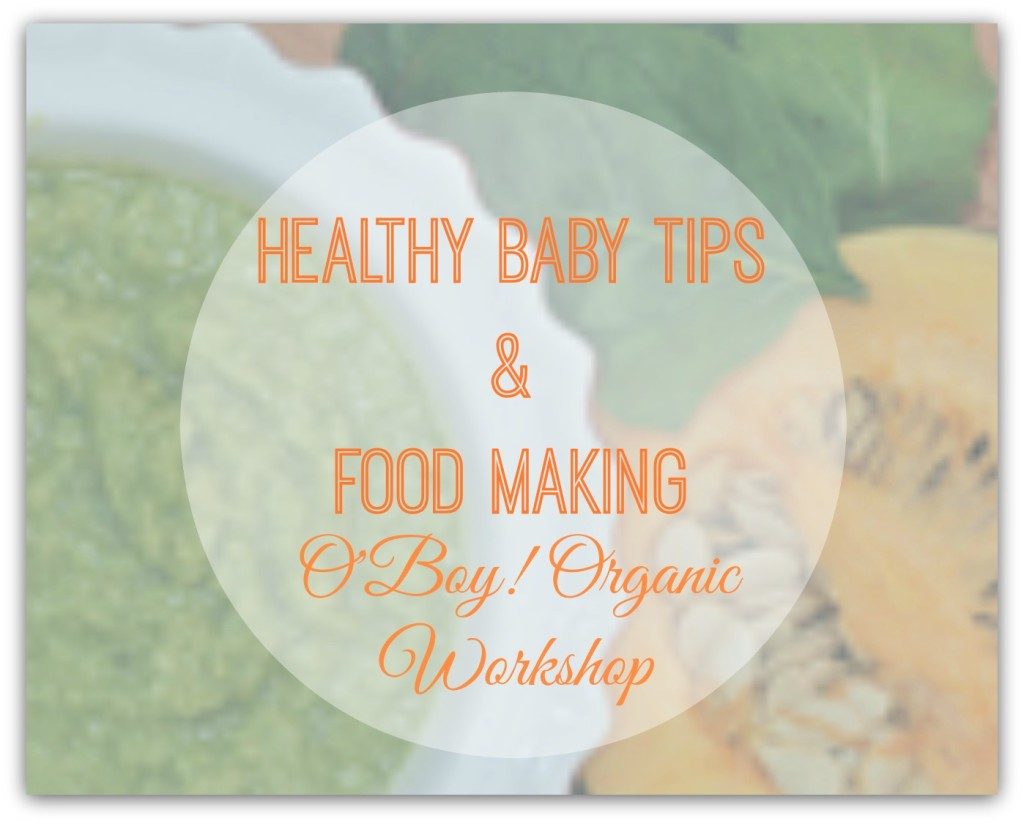 Healthy Baby Tips and Food Making Workshop Logo