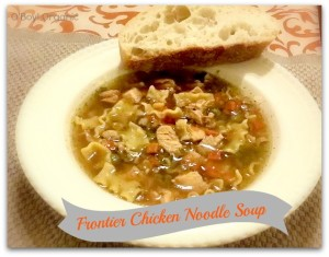 Fonteir chicken noodle soup finished