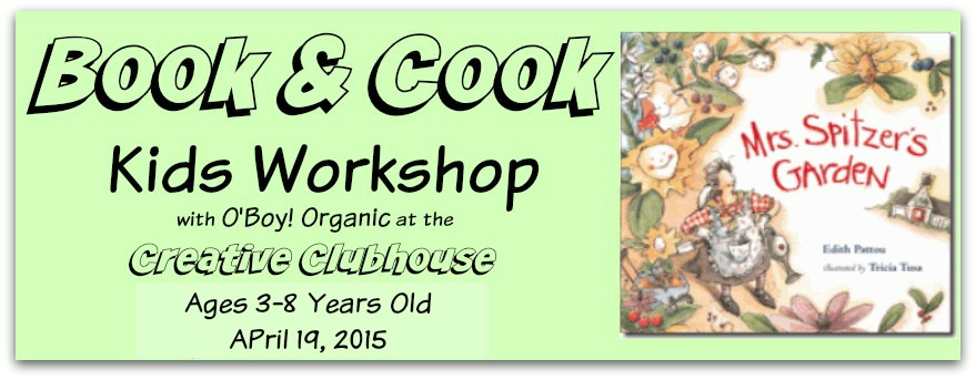 April Book and Cook Kids Workshop March 22nd