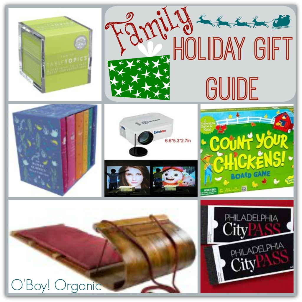 Family Holiday Gift Guide Collage