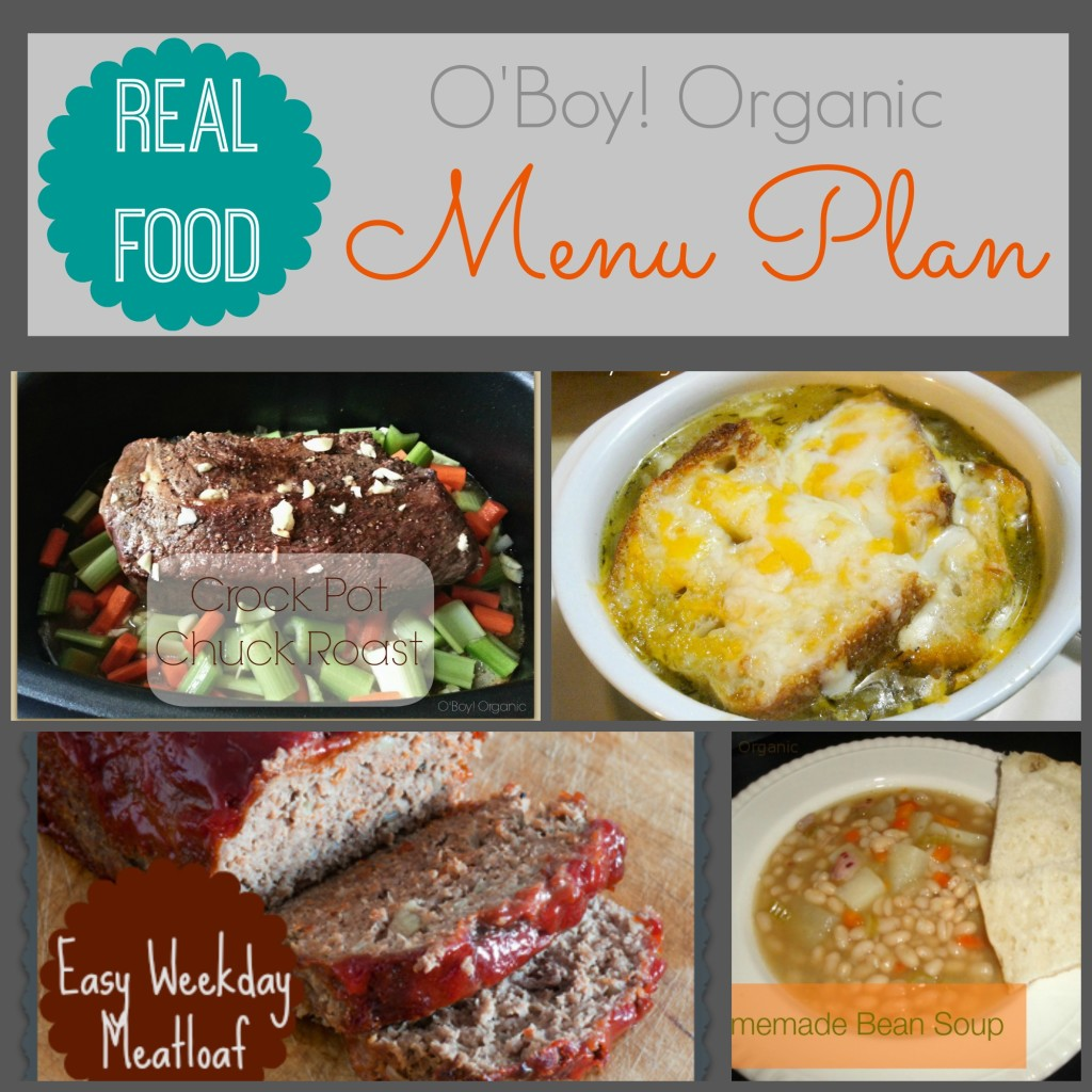 Menu Plan January week 1