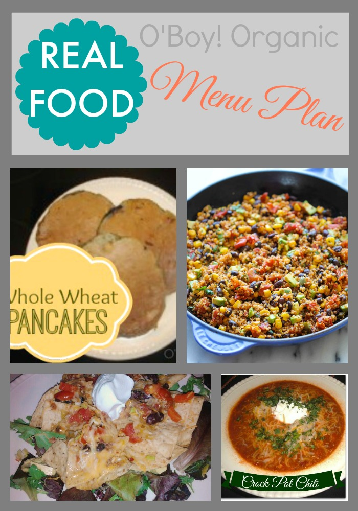 REAL FOOD Menu Plan January week 4
