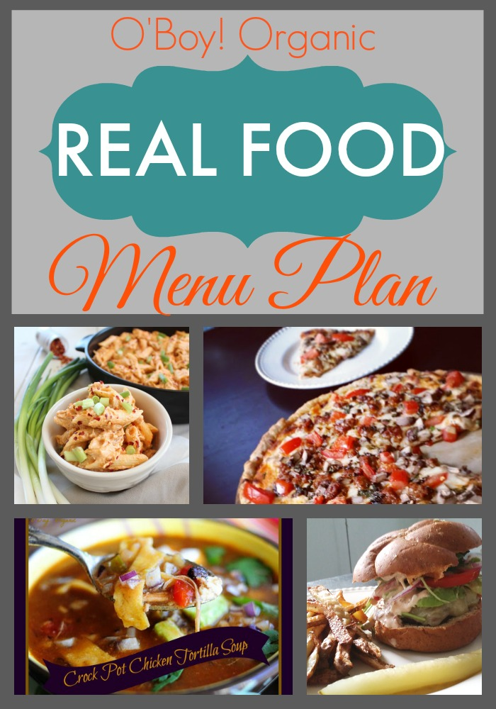Real Food March 2015 Menu Plan