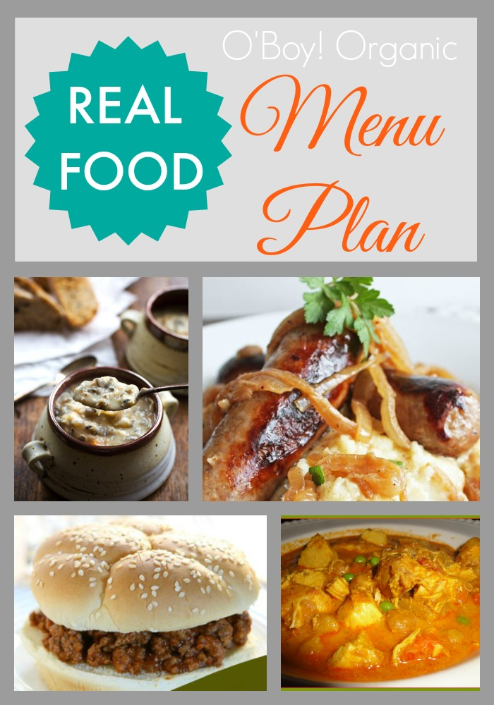 Real Food Menu Plan March week 3