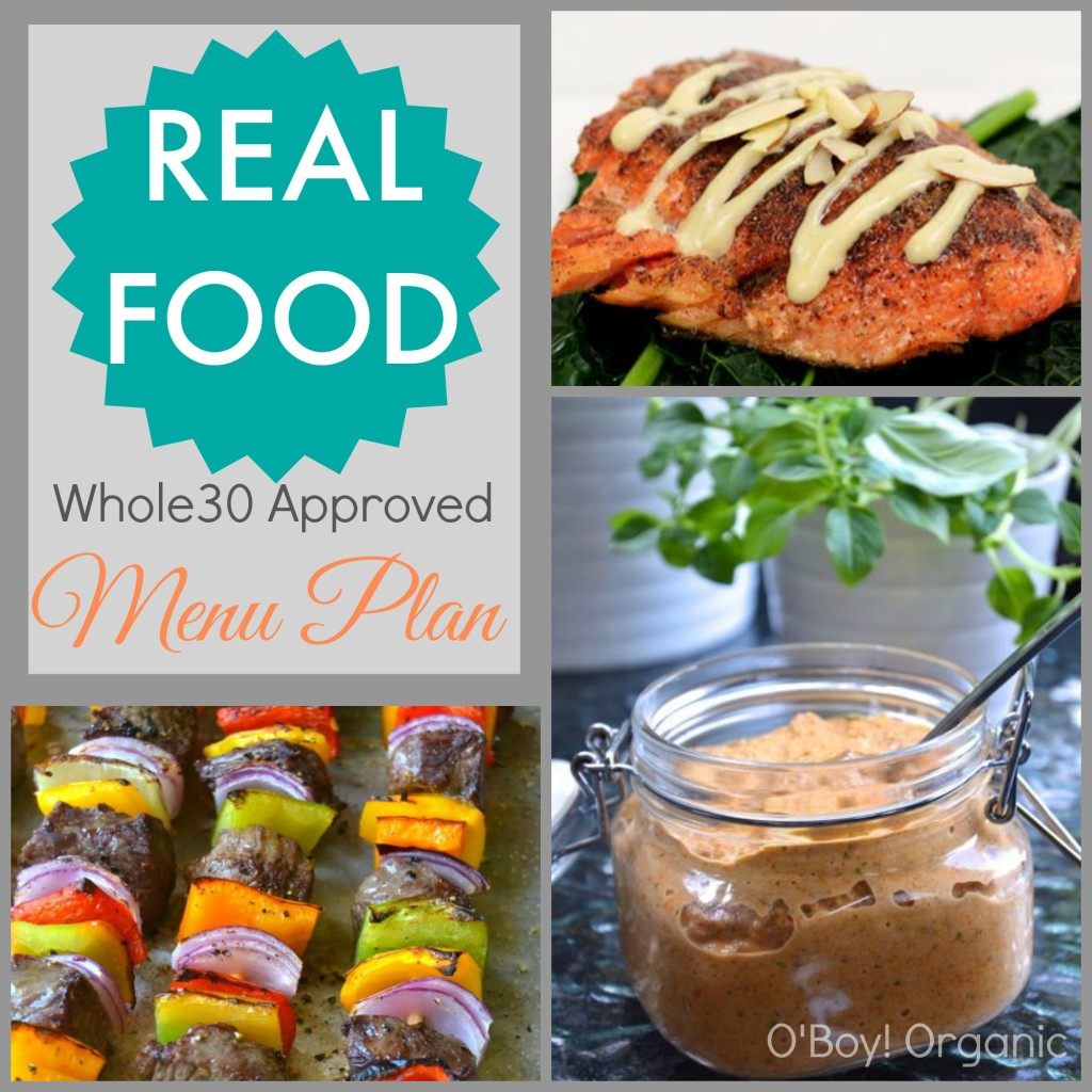 Real Food Whole30 Menu Plan Week 2