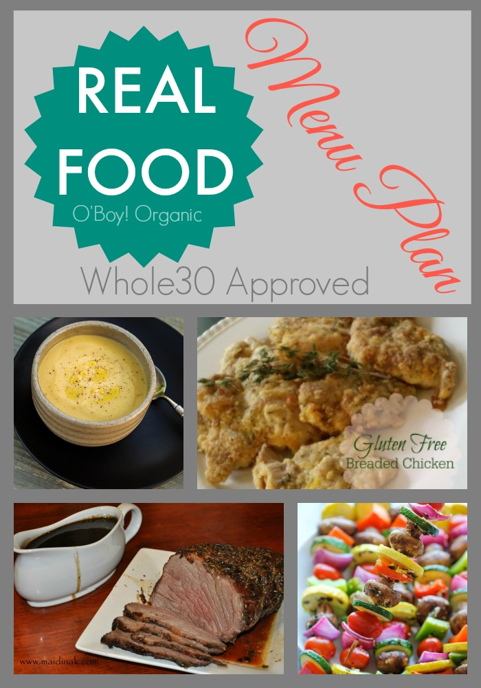 Real food Menu Plan whole30 approved week 3