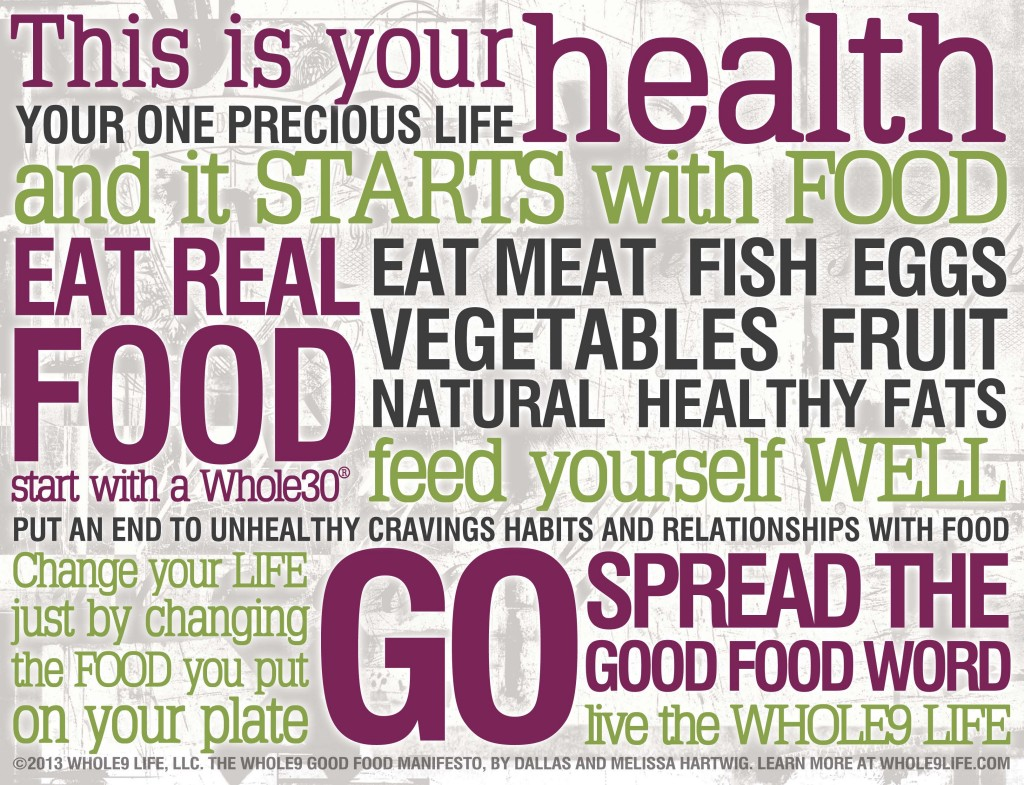 Whole30 Words to live by