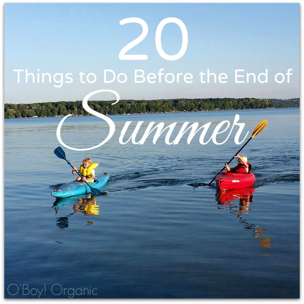 20 things to do before the end of summer