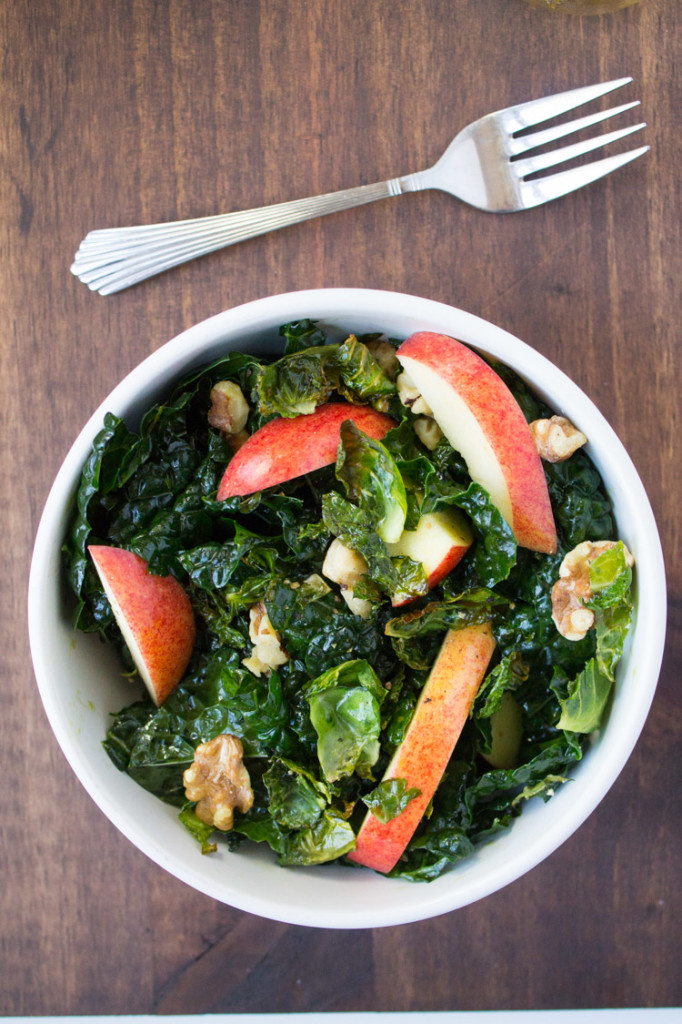 Harvest Kale Salad with nuts