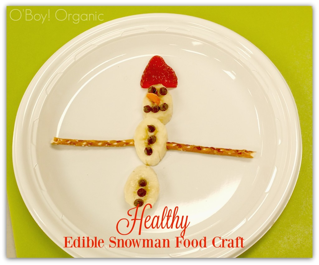 Healthy Edible Snowman Food Craft with Bananas