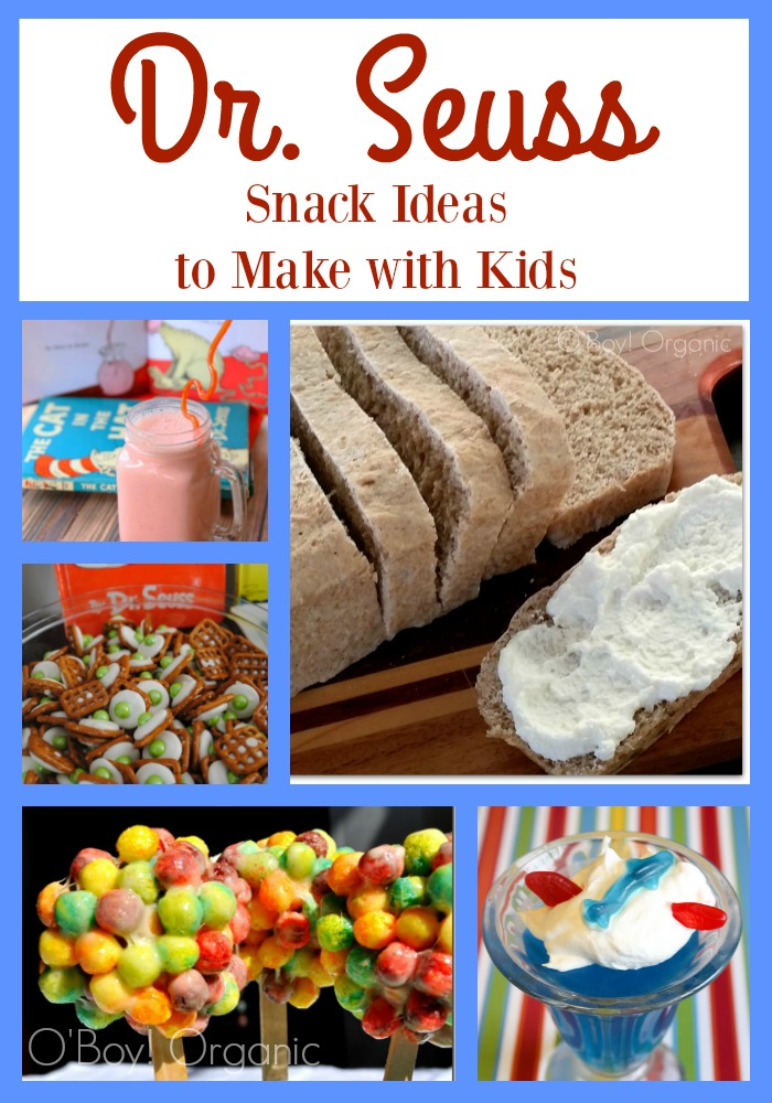 Dr Seuss snack ideas Collage