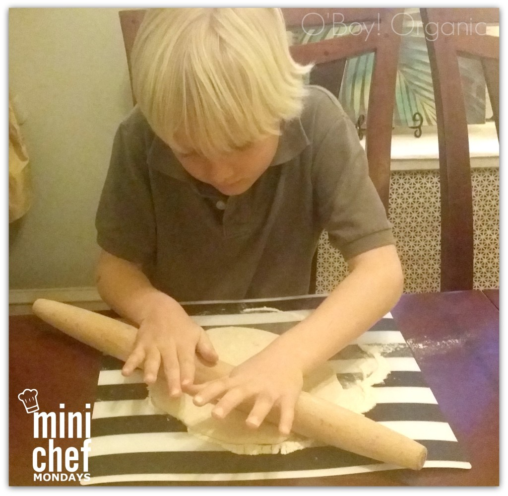 challah making dough rolling