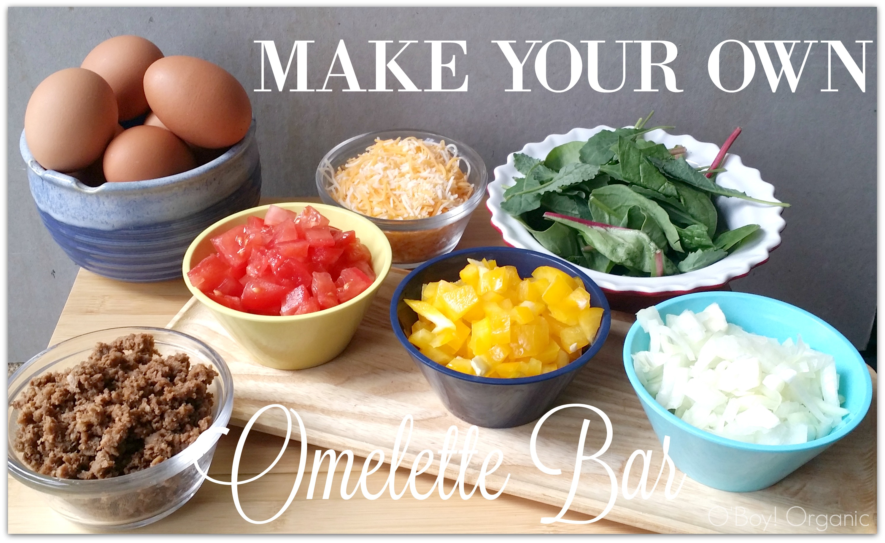Image gallery omelette bar for Build your own bar