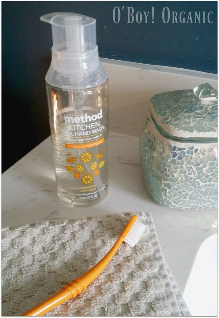 B Corp Kitchen Soap and Toothbrush