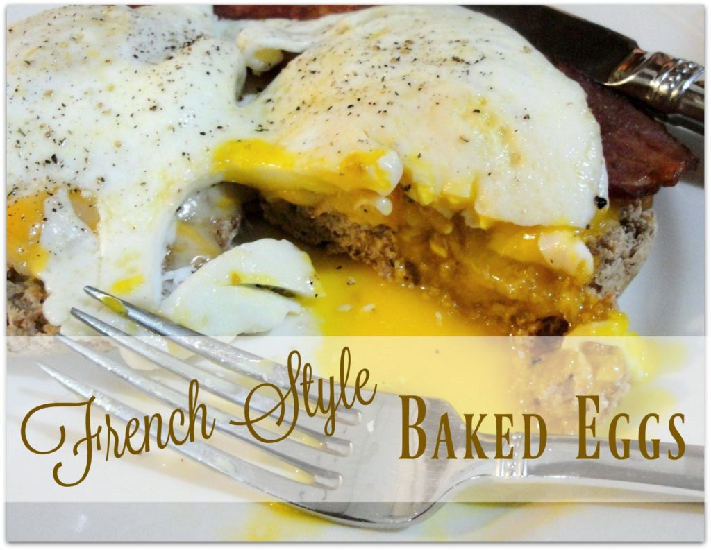 french style baked eggs