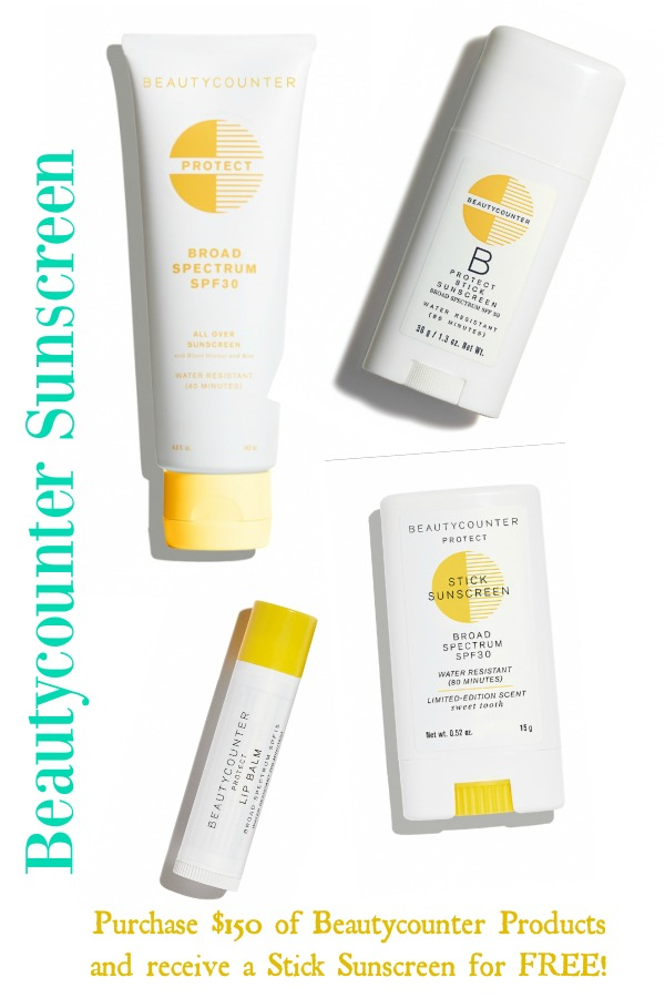 Beautycounter sunscreen promotion from me